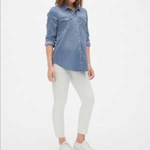 Gap Maternity Denim Western Shirt